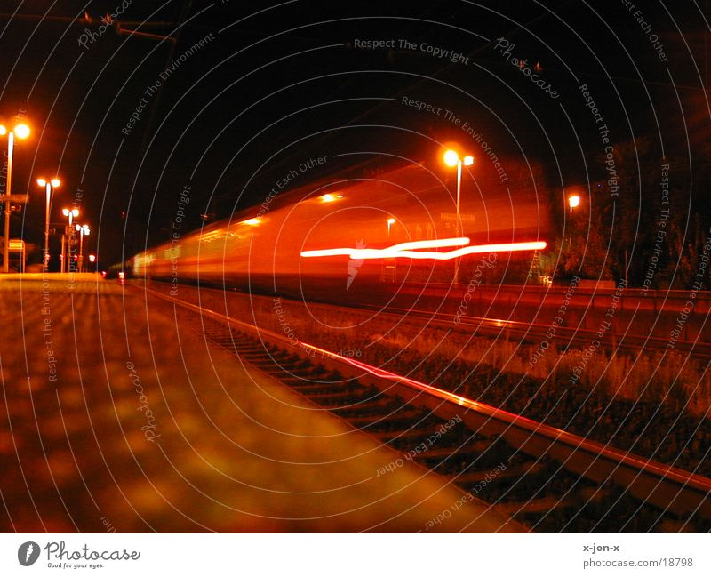 Train at night 1 Railroad Night Speed Transport colour climate