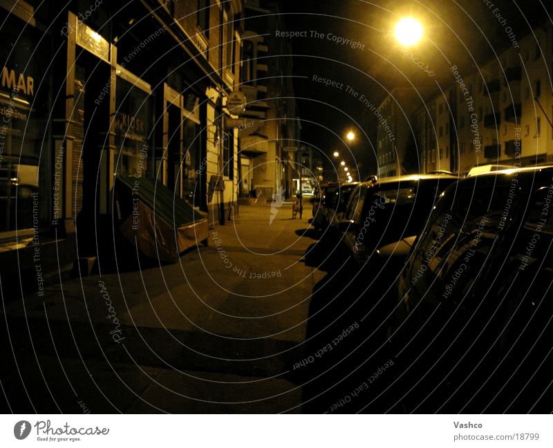 Optics of the night Town Night Old
