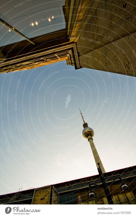 watch TV Berlin Capital city Seat of government alex Alexanderplatz Berlin TV Tower Television tower radio and ukw tower telespargel