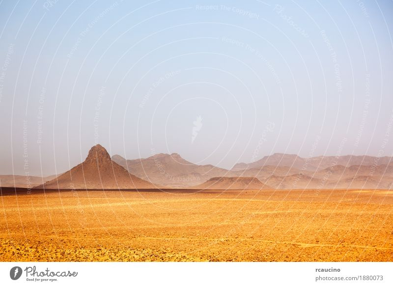 Desert landscape. Ouarzazate, Morocco, Vacation & Travel Trip Adventure Expedition Summer Mountain Nature Landscape Warmth Stone Brown Yellow Gold Africa arabic