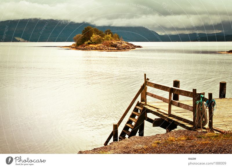 on the jetty Calm Vacation & Travel Tourism Far-off places Ocean Island Environment Nature Landscape Elements Clouds Summer Climate Weather Mountain Lakeside