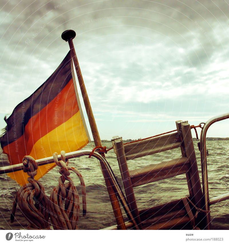 Water Vacation & Travel Ocean Germany Weather Watercraft Waves Time Wind Sky Human being Travel photography Driving Flag Harbour North Sea