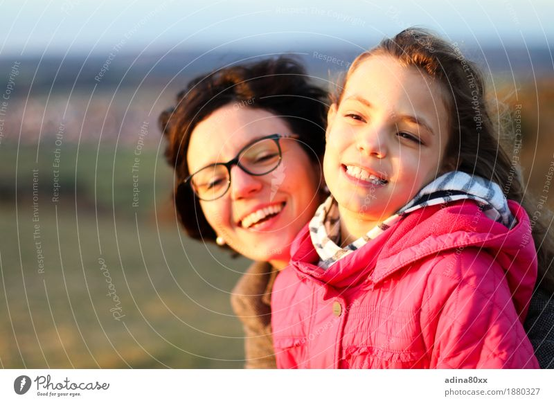 mother and daughter Parenting Education Girl Woman Adults Mother Family & Relations Nature Landscape Sunrise Sunset Laughter Illuminate Happiness Together Happy