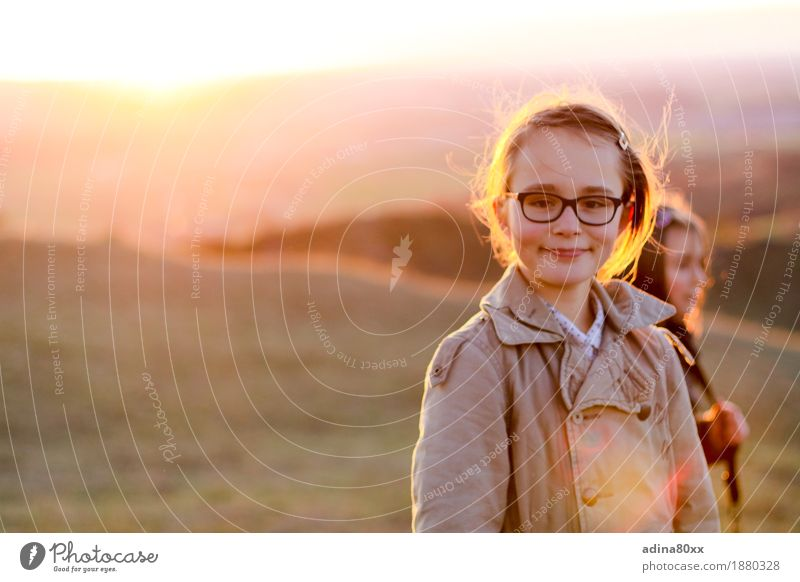 Nature Beautiful Girl Emotions Autumn Happy Moody Horizon Free Contentment Infancy Happiness Perspective Future Smiling Joie de vivre (Vitality)