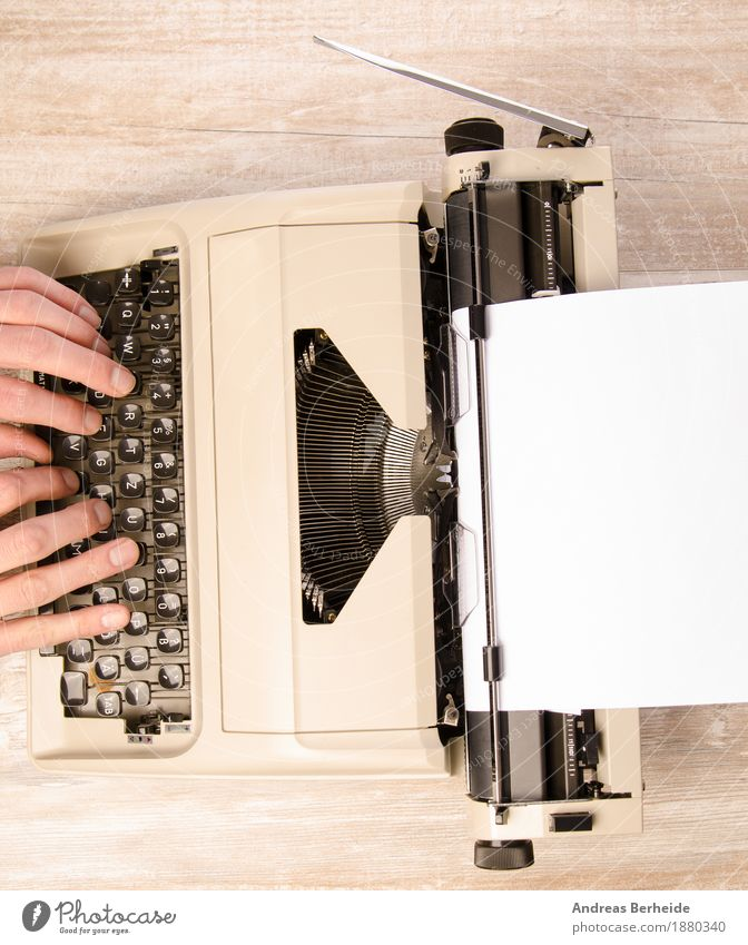 Write again Office Retro Inspiration Background picture creative desk journalism Journalist Keyboard letter literature machine man nostalgia novel old press