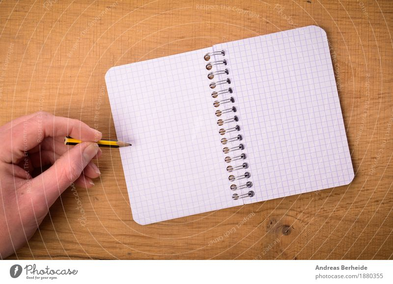 Hand with ring binder Office Business Notebook Musical notes Stationery Paper Piece of paper Pen Draw Write writing open left table Background picture author