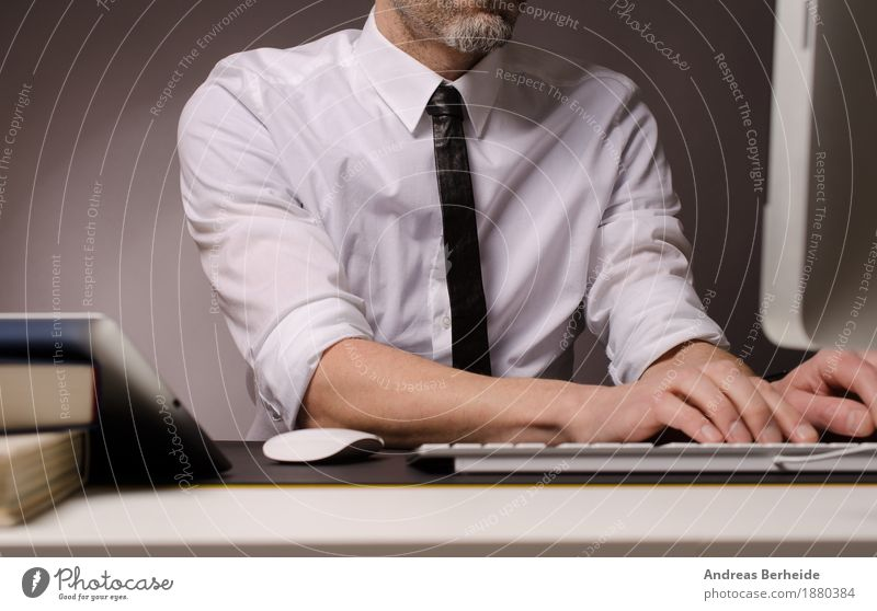 office work Office work Business Computer Internet Human being Man Adults 30 - 45 years Work and employment Businessman Online table technology typing working