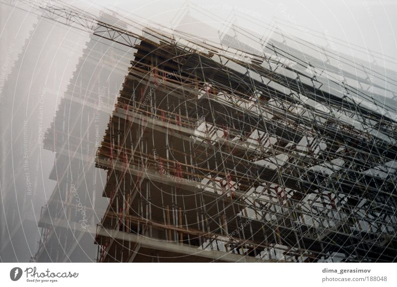 ARCH Construction site White House (Residential Structure) Black Building Landscape Architecture Facade Europe Silver Structural engineering House building