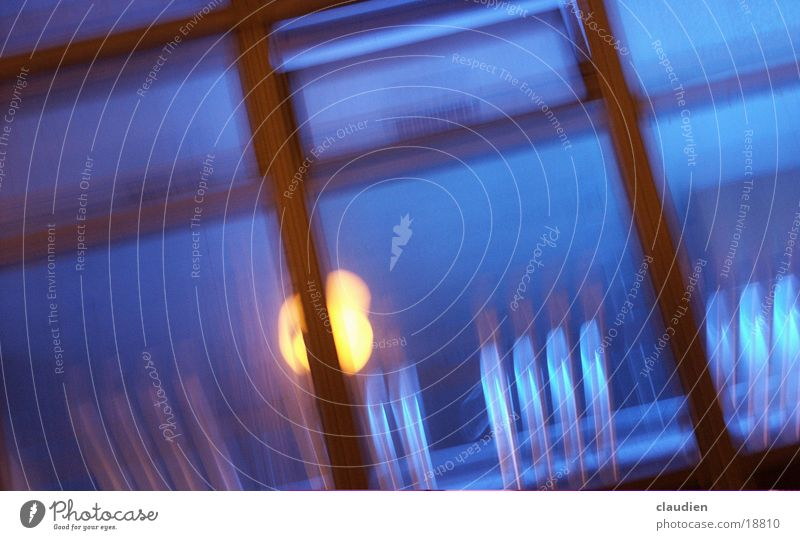 blue window Window Blur Lamp Light Photographic technology lanzeit exposure blurred vision yelloq