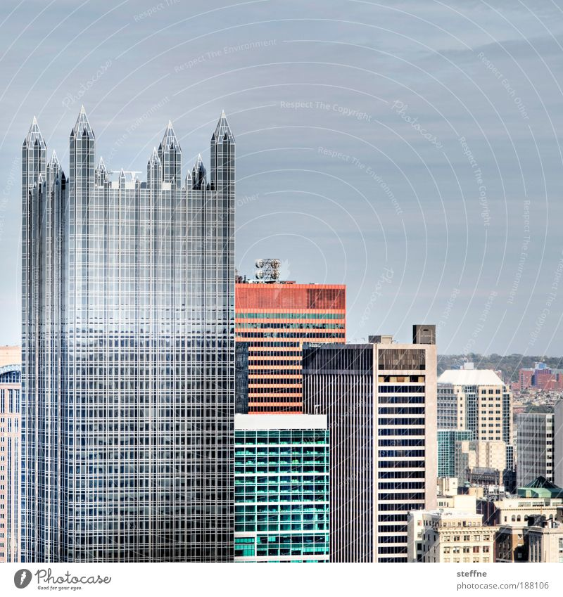 City Business Glass High-rise Tall Facade Modern USA Bank building Steel Skyline Downtown HDR Office building