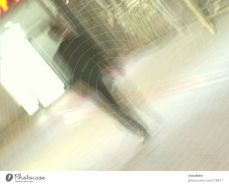 business man Businesspeople Light Long exposure Man Evening night Blur Businessman