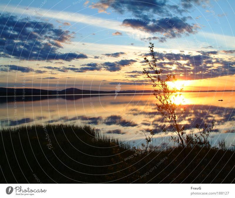 Nature Blue Water Beautiful Sun Colour Calm Relaxation Environment Lake Moody Horizon Contentment Gold Illuminate Sunset