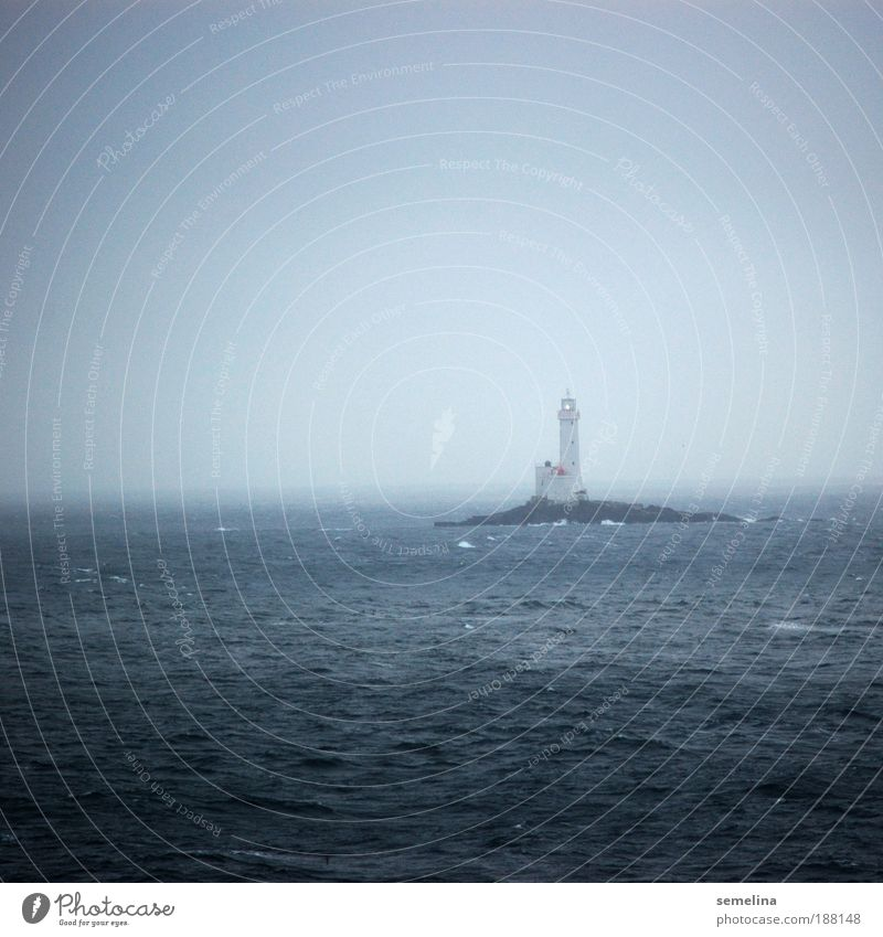 Water Ocean Blue Loneliness Dark Cold Waves Weather Horizon Hope Island Illuminate Navigation Lighthouse Deserted Warning label