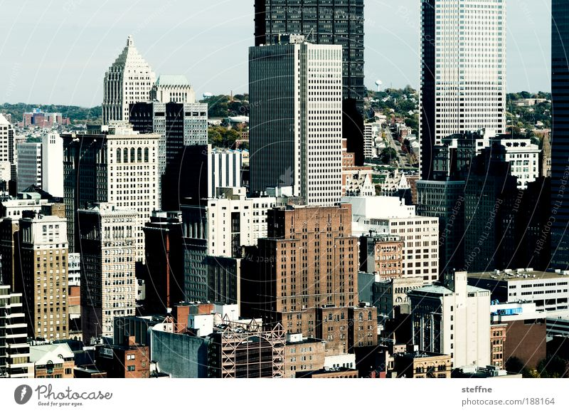 The 2 Towers Sightseeing City trip Living or residing Flat (apartment) Pittsburgh USA Town Downtown Skyline Overpopulated House (Residential Structure)