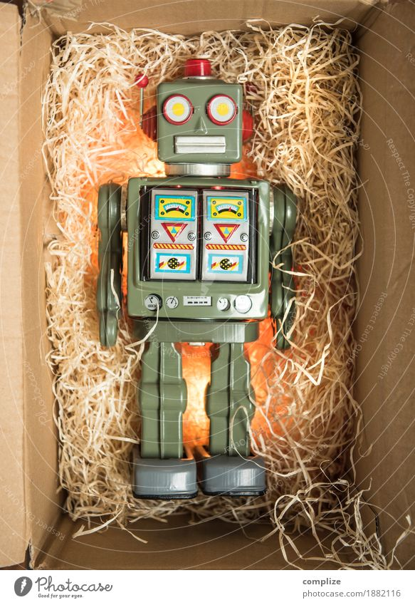 Robot Gift Packaging Surprise Christmas gift Birthday gift Packing material Box Packaging material Toys Rarity tin robots Collection Accumulate Retro