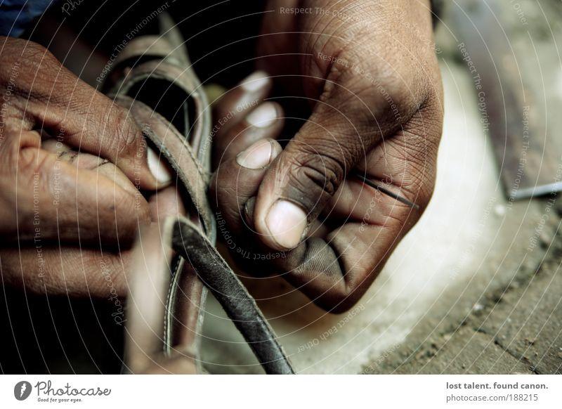 nepali_cobbler Handcrafts Vacation & Travel Craftsperson Shoemaker Services Craft (trade) Career Unemployment Human being Masculine 1 Footwear Footprint