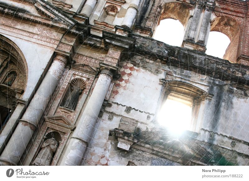 La ruina Vacation & Travel Sightseeing City trip Sky Sun Antigua Guatemala Small Town Old town Church Ruin Manmade structures Building Architecture