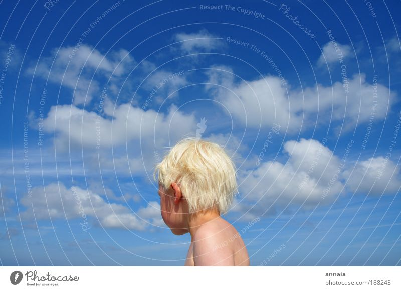 Human being Child Blue Far-off places Life Boy (child) Head Dream Infancy Skin Masculine Exterior shot Infinity Toddler 3 - 8 years