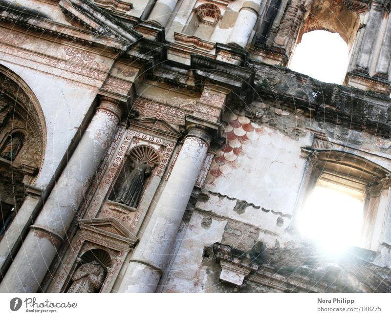 Land of a thousand acres Vacation & Travel Tourism Trip Far-off places Sightseeing City trip Sun Antigua Guatemala Small Town Old town Church Castle Ruin