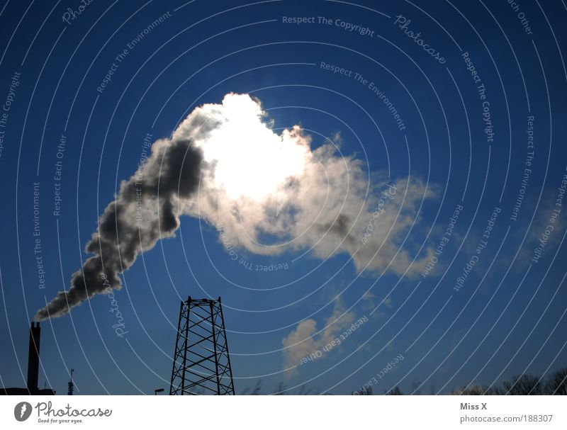 Sky Sun Environment Dirty Energy Large Energy industry Climate Future Industry Threat Factory Building Smoke Stress Chimney