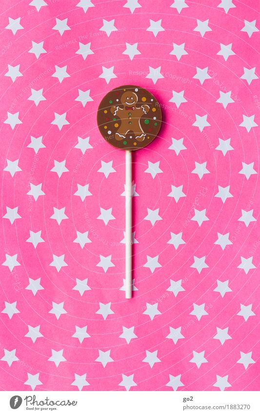 Chocolate lollipop Candy Lollipop Nutrition Christmas & Advent Birthday Star (Symbol) Happiness Delicious Sweet Brown Pink Joy To enjoy Creativity