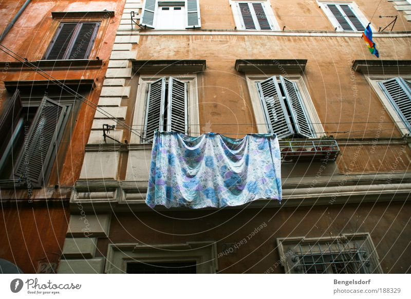 Old White City House (Residential Structure) Wall (building) Window Sadness Wall (barrier) Building Architecture Door Elegant Facade Italy Manmade structures