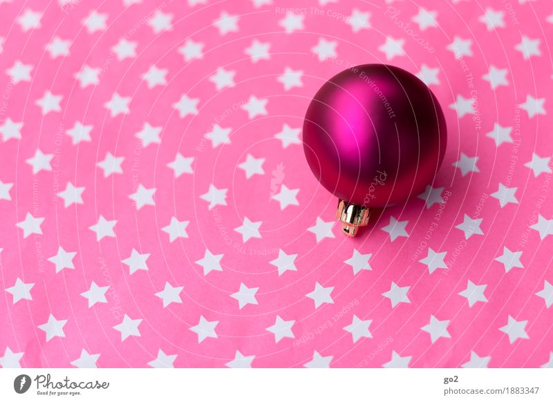 Ball and starlets Christmas & Advent Decoration Kitsch Odds and ends Sphere Star (Symbol) Esthetic Round Violet Pink Anticipation Christmas decoration