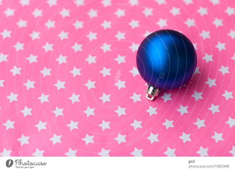Blue Christmas & Advent Pink Decoration Esthetic Star (Symbol) Round Sphere Anticipation Glitter Ball Christmas decoration Christmas star Christmas gift