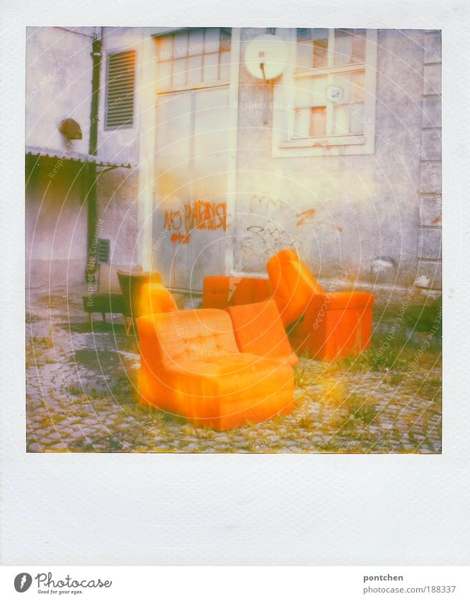 Old Loneliness Window Wall (building) Graffiti Polaroid Building Stone Wall (barrier) Door Interior design Design Characters Exceptional Construction site