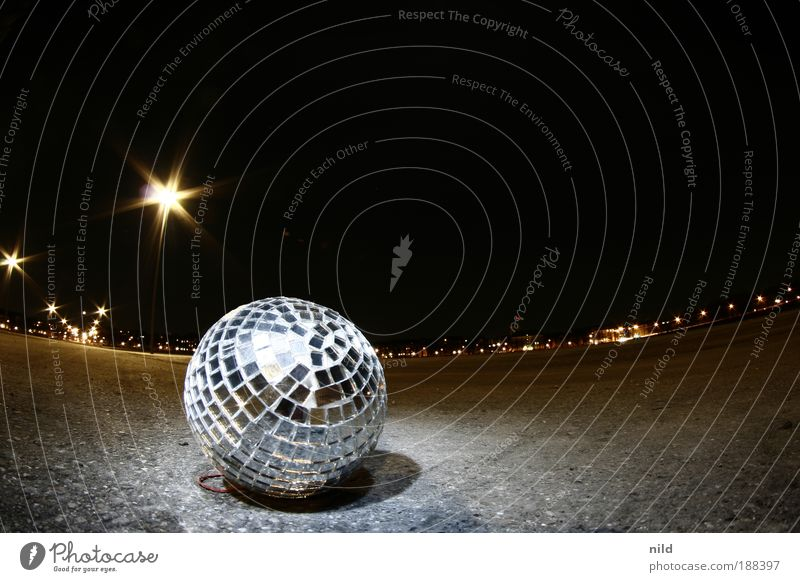 OpenAirDisco Night life Entertainment Party Event Club Going out Feasts & Celebrations Clubbing Dance Munich Mirror Decoration Disco ball Glass Silver Converse