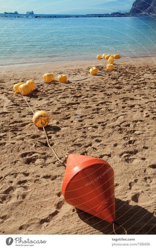 Water Sun Ocean Summer Beach Vacation & Travel Colour Relaxation Dye Sand Line Island Border Atlantic Ocean Intensive Canaries