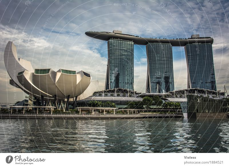 Singapore III Capital city Skyline High-rise Hotel Tower Manmade structures Building Architecture Tourist Attraction Yacht harbour Town City Vacation & Travel