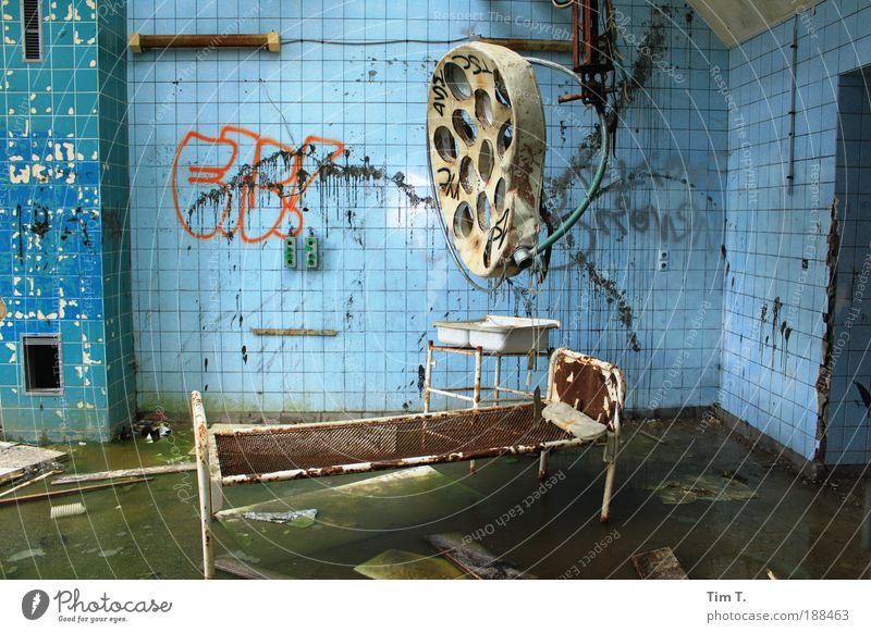 ALPHERES (Series) Workplace Hospital Health care Ruin Park Manmade structures Fear Horror Fear of death Colour photo Interior shot Deserted Day