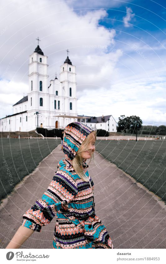 happy in latgale Vacation & Travel Summer Beautiful Joy Life Lifestyle Feminine Style Playing Freedom Moody Wild Leisure and hobbies Trip Church Happiness