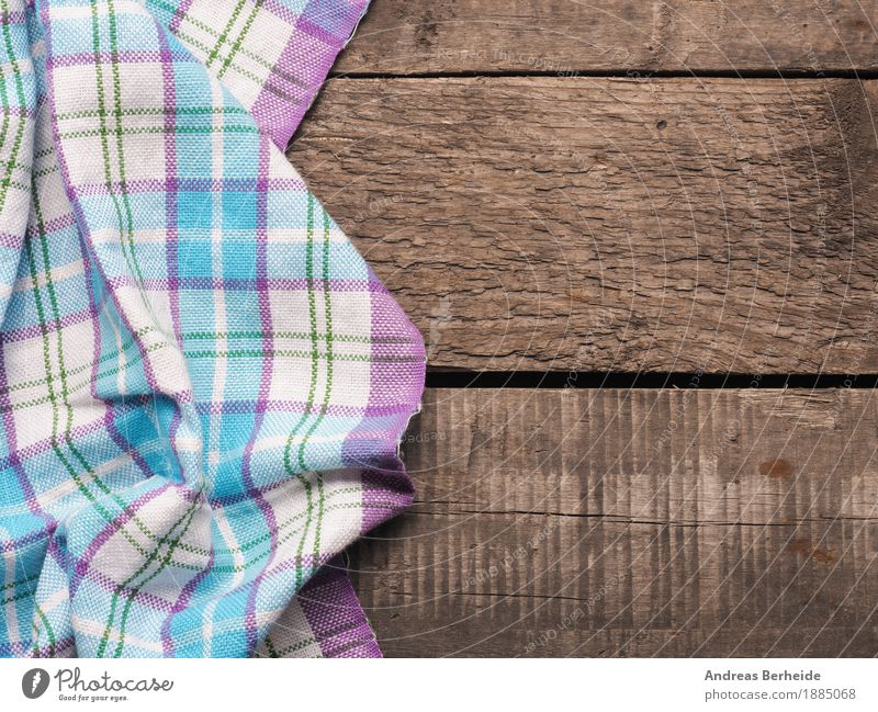 Checkered table cloth Restaurant Old picnic Background picture tablecloth wooden textile checkered white pattern texture blank kitchen surface textured Dish