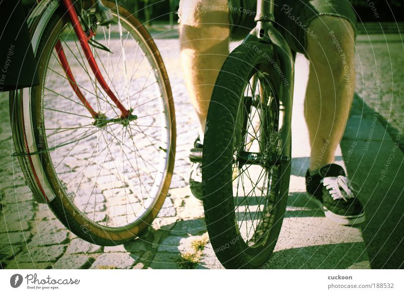 Human being Old Green Calm Legs Friendship Together Contentment Leisure and hobbies Dirty Sit Driving Cycling Culture Crouch Equal