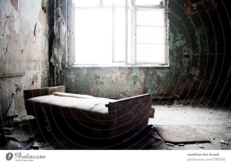 A COZY PLACE TO FUCK Interior design Decoration Furniture Sofa Wallpaper Room Living room Deserted Industrial plant Factory Ruin Window Old Esthetic Exceptional