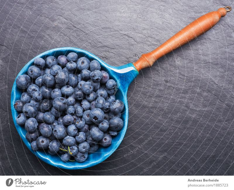 blueberries Fruit Nutrition Organic produce Vegetarian diet Bowl Summer Delicious Sweet black food fresh healthy organic berry natural plate Blackboard Pan