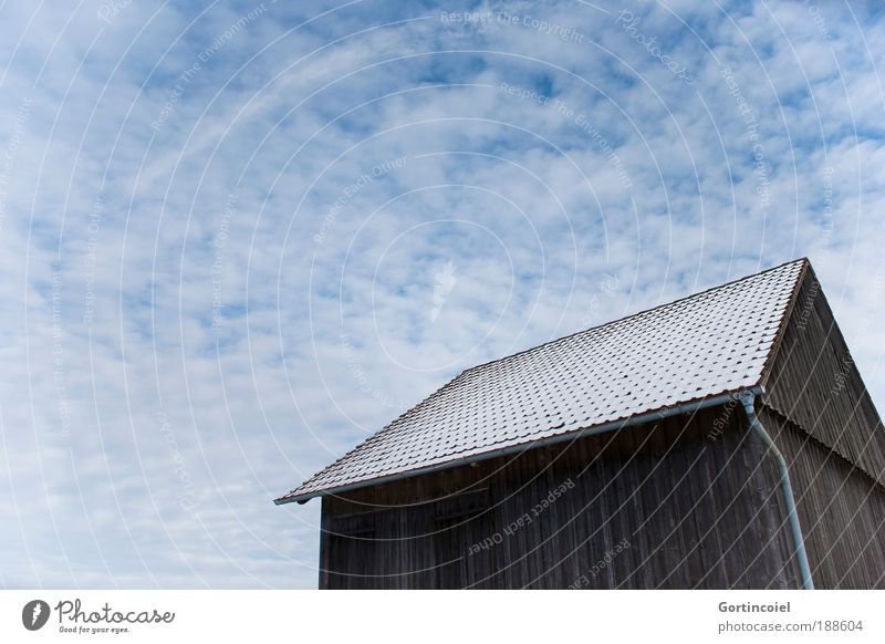 Sky Winter Clouds Cold Snow Wall (building) Building Architecture Perspective Roof Hut Beautiful weather House (Residential Structure) Barn Distorted