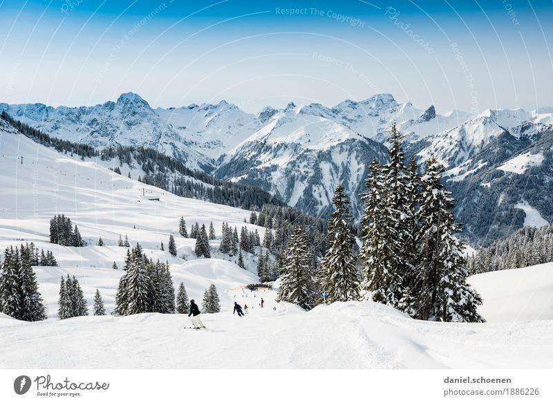 Vacation & Travel Landscape Joy Winter Mountain Snow Sports Tourism Contentment Leisure and hobbies Joie de vivre (Vitality) Beautiful weather Alps