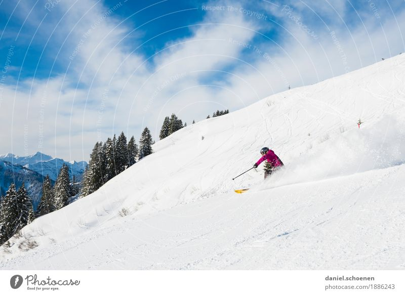 Human being Vacation & Travel Nature Youth (Young adults) Young woman Relaxation Joy Winter Mountain 18 - 30 years Adults Feminine Snow Sports Emotions Movement