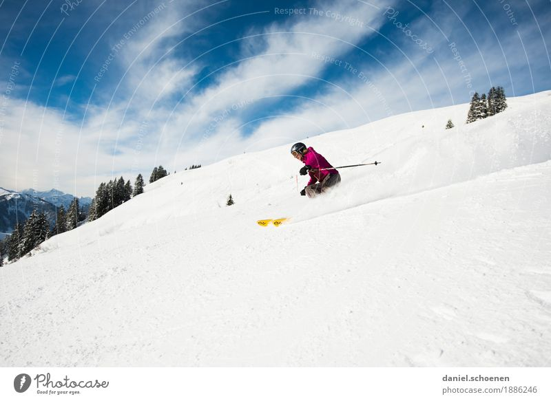 Human being Vacation & Travel Youth (Young adults) Joy Winter Mountain 18 - 30 years Adults Feminine Snow Sports Emotions Movement Happy Tourism