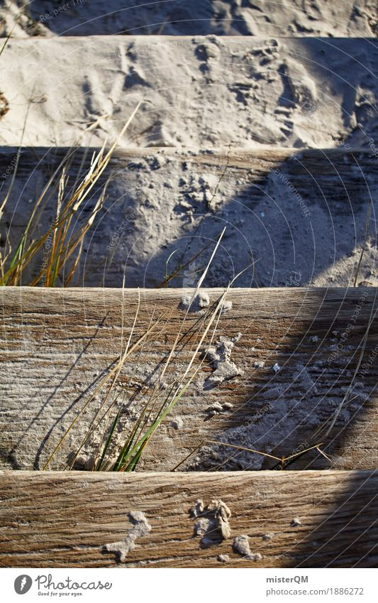 Beach Life IV Nature Esthetic Contentment Stairs Sand Baltic Sea Baltic island Marram grass Vacation photo Vacation mood Colour photo Multicoloured