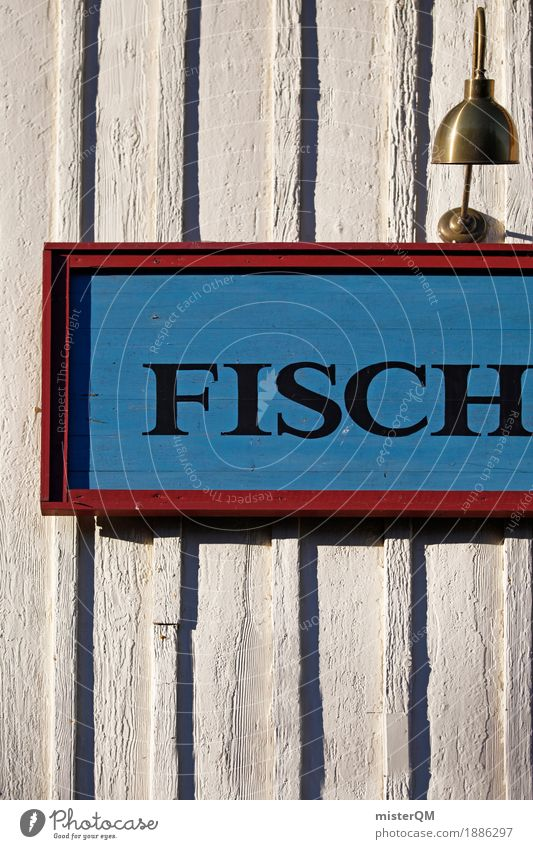 Fish. Art Esthetic Fishery Fisherman Fishing village Baltic Sea Typography Characters Colour photo Multicoloured Exterior shot Experimental Abstract Pattern