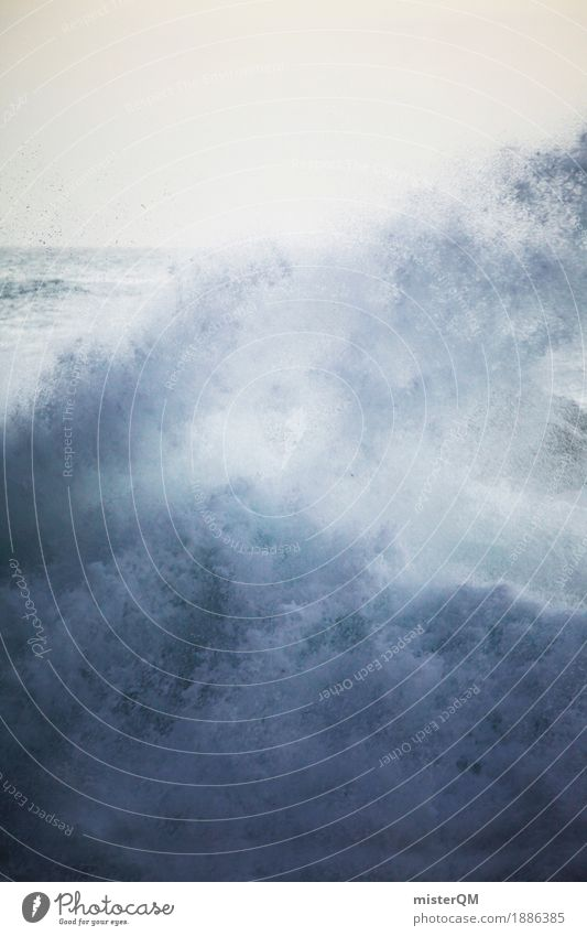 Power. Art Work of art Esthetic Water Hydroelectric  power plant Drops of water Whirlpool White crest Sea water Waves Swell Undulation Wave action Wave break