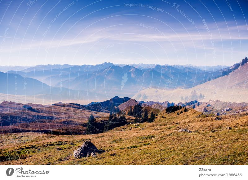 2 times bavaria Adventure Mountain Hiking Environment Nature Landscape Sky Autumn Beautiful weather Meadow Alps Gigantic Natural Green Romance Calm Relaxation