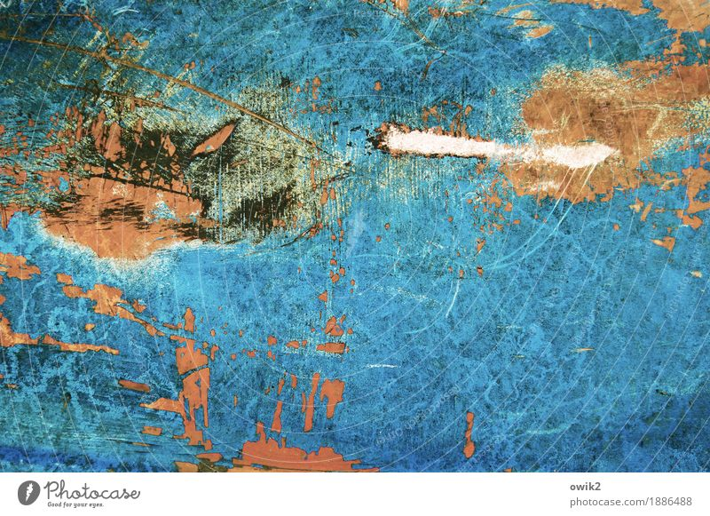 Blue White Dye Art Orange Wild Power Crazy Plastic Painting and drawing (object) Anger Turquoise Chaos Force Bizarre War
