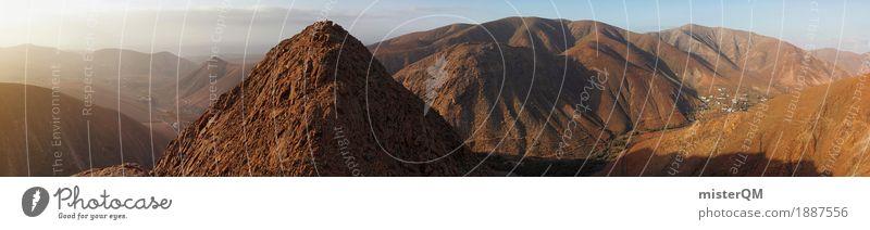 Nature Landscape Far-off places Mountain Environment Esthetic Tall Peak Panorama (Format) Stony Fuerteventura Martian landscape Volcanic