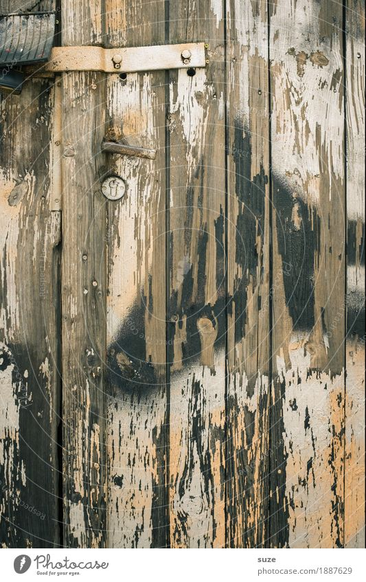 Old Wall (building) Background picture Wood Brown Door Open Closed Broken Wooden board Lock Shabby Wooden wall Knock Texture of wood Knock at the door