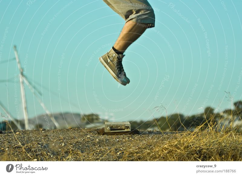 jump and the world is yours... Human being Nature Jump Legs Footwear Earth Bottom Culture Radio (device) Sneakers